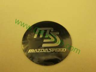 JAPAN MS mazdaspeed Black Wheel Center Caps Car Decal