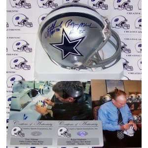 Troy Aikman & Roger Staubach Hand Signed Cowboys Mini