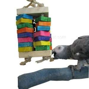Lion Box Wood and Rope Large Parrot Chew Toy