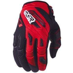 MSR Racing Renegade Gloves   Large/Red/Black Automotive