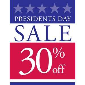 Presidents Day Sale Red White Blue Sign