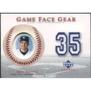 2003 Upper Deck Game Face Gear #MM Mike Mussina Sports Collectibles