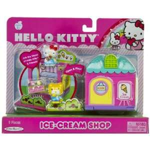 Hello Kitty World Ice Cream Shop   9 Pieces Playset Toys