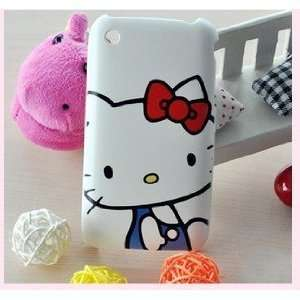 NC] APPLE IPHONE 3 3G 3GS WHITE BIG FACE HELLO KITTY WITH BLUE SHIRT