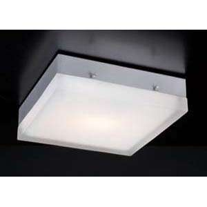 PLC Lighting 6574/CFL Praha Nickel Flush Mount