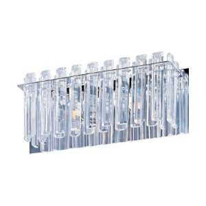 Facets Collection 2 Light 14 Polished Chrome Wall Sconce with Beveled