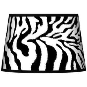 Safari Zebra Tapered Lamp Shade 13x16x10.5 (Spider)