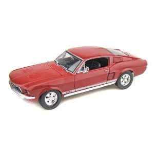 1967 Ford Mustang GTA Fastback 1/18 Red Toys & Games