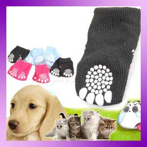4Pcs Lovely Fashion New Hot Puppy Dogs Pet Knits Socks Anti Slip Skid