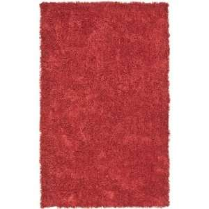 4040 Red Shag Area Rug, 7 Feet 6 Inch by 9 Feet 6 Inch