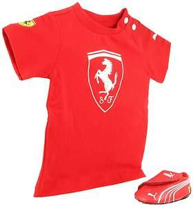 NEW CRIB PUMA PACK Ferrari SHOE + T SHIRT 35149303 RED 100% ORIGINAL
