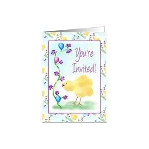 Childrens Birthday Party Invitation Little Chick Card Toys & Games