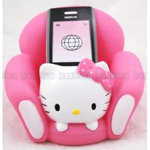 Hello Kitty Sofa Mobile Cell Phone Holder Hot Pink Cell