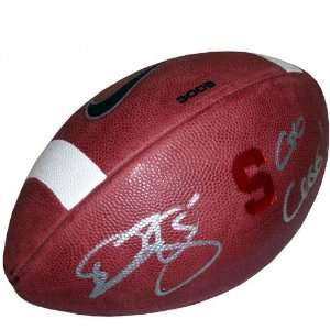 Donovan McNabb Autographed Game Model Football with Go