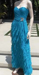 DREAMY**$2,410 LIANCARLO COUTURE Ruffled Column Gown 8