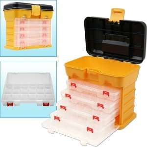 Trademark Global 53 Compartment Durable Plastic Storage Tool Box in