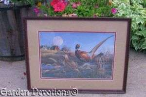 Nicely Framed Signed MEGER PHEASANT FARM BARN Picture