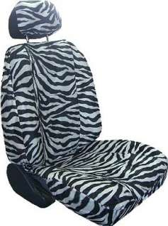 White Black Zebra Car Truck Seat Covers & Accessories