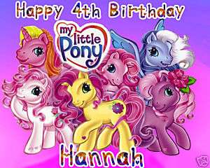 MY LITTLE PONY Edible CAKE Image Icing Topper Customize