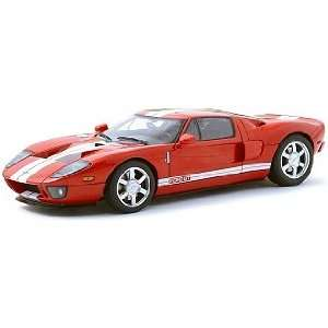 Ford GT Red/White Stripe 118 Autoart Diecast Car Model Toys & Games