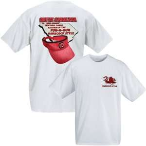 Carolina Gamecocks White Coach Spurrier T shirt