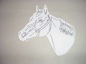 NEW HORSE MAGNET Quarter Horse Head CUT OUT Magnet