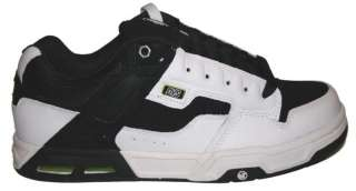 NEW MENS DVS ENDURO HEIR HO4 BLACK/WHITE LEATHER SKATE SHOES SIZE 8.5