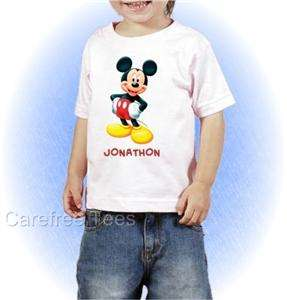 Disney Mickey Mouse T Shirt Personalized YOUR TEXT NEW