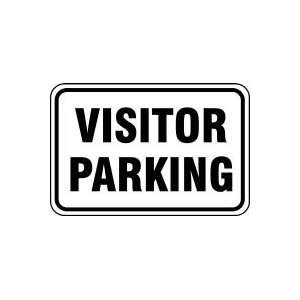 VISITOR PARKING (BLACK/WHITE) 18 x 24 Sign .080 Reflective Aluminum