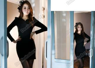 Sexy Womens Casual Long Sleeve V Neck Tunic Mini Dress T Shirts/Tops