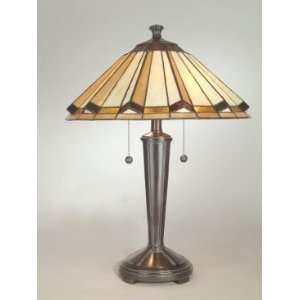 Dale Tiffany Allegra Tiffany Table Lamp with Mica Bronze