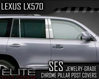 2009 12 Lexus LX570 6pc. SES Chrome Pillar Post Covers