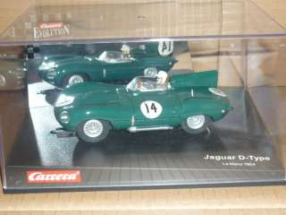 CARRERA EVOLUTION 1/32 SLOT CAR JAGUAR D TYPE LE MANS