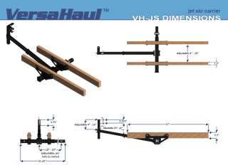 VERSA HAUL HITCH MOUNT STAND UP JETSKI JET SKI CARRIER