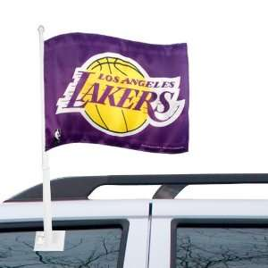 Los Angeles Lakers 11 x 15 Purple Car Flag Sports