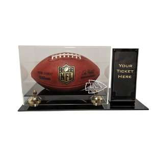 Kansas City Chiefs Deluxe Football Display Case with Ticket