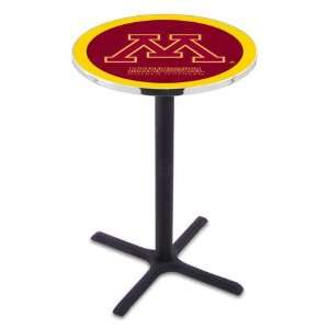 Minnesota Counter Height Pub Table   Cross Legs   NCAA