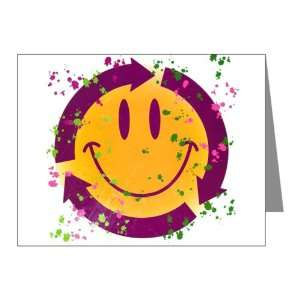 Note Cards (10 Pack) Recycle Symbol Smiley Face
