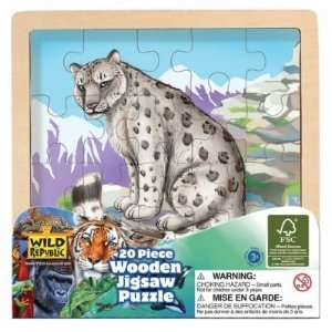 Snow Leopard Wooden Jigsaw Puzzle Toys & Games