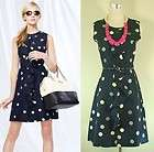 NEW Kate Spade New York Polkas Dot Dress Navy 2 4 6