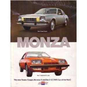 1975 CHEVROLET MONZA Sales Brochure Literature Book