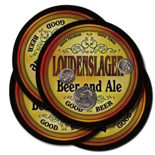LOUDENSLAGER Beer Coasters Fathers Day Gift for Dad