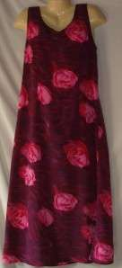 Womens Expressions Pink Tropical Print Dress Size 12