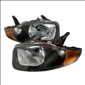 Chevrolet Cavalier 2003 2004 2005 Euro Headlights   Black