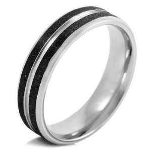 Scrub Stainless Steel Rings Wedding Band Size 11 Justeel Jewelry