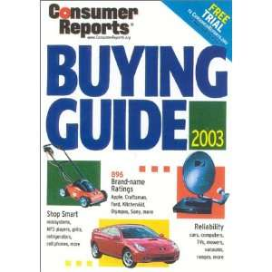 Buying Guide 2003 (Consumer Reports Buying Guide