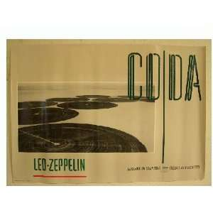 Led Zeppelin Poster Coda Cover Image Swan Song