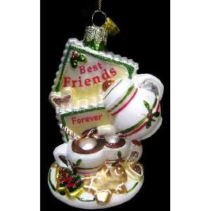 Best Friends Forever Tea & Cookies 4 Glass Christmas