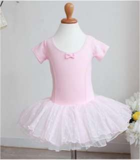 New Party Leotard Ballet Tutu Costume Dance Skirt Short Sleeve Dress 2