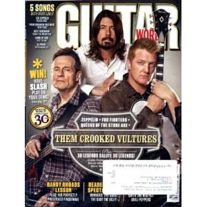 Magazine March 2010 Them Crooked Vultures with CD Guitar World Books